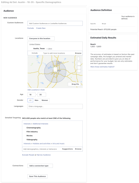 Blackhawk | FB Ads Audience Ex. Screenshot | Austin Digital Marketing Agency